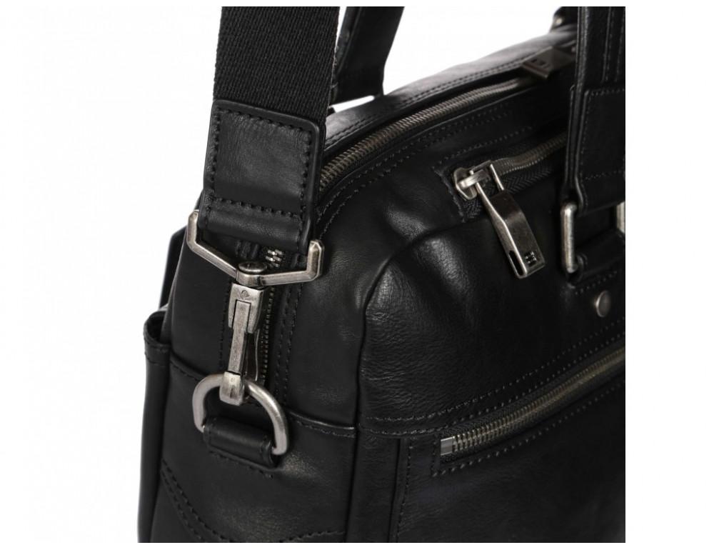 Чёрная кожаная деловая сумка Blamont P5912071 - Фото № 10