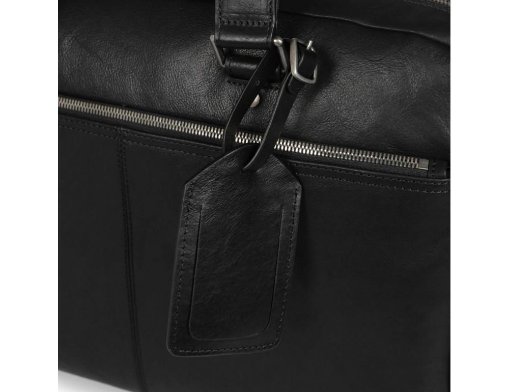 Чёрная кожаная деловая сумка Blamont P5912071 - Фото № 11