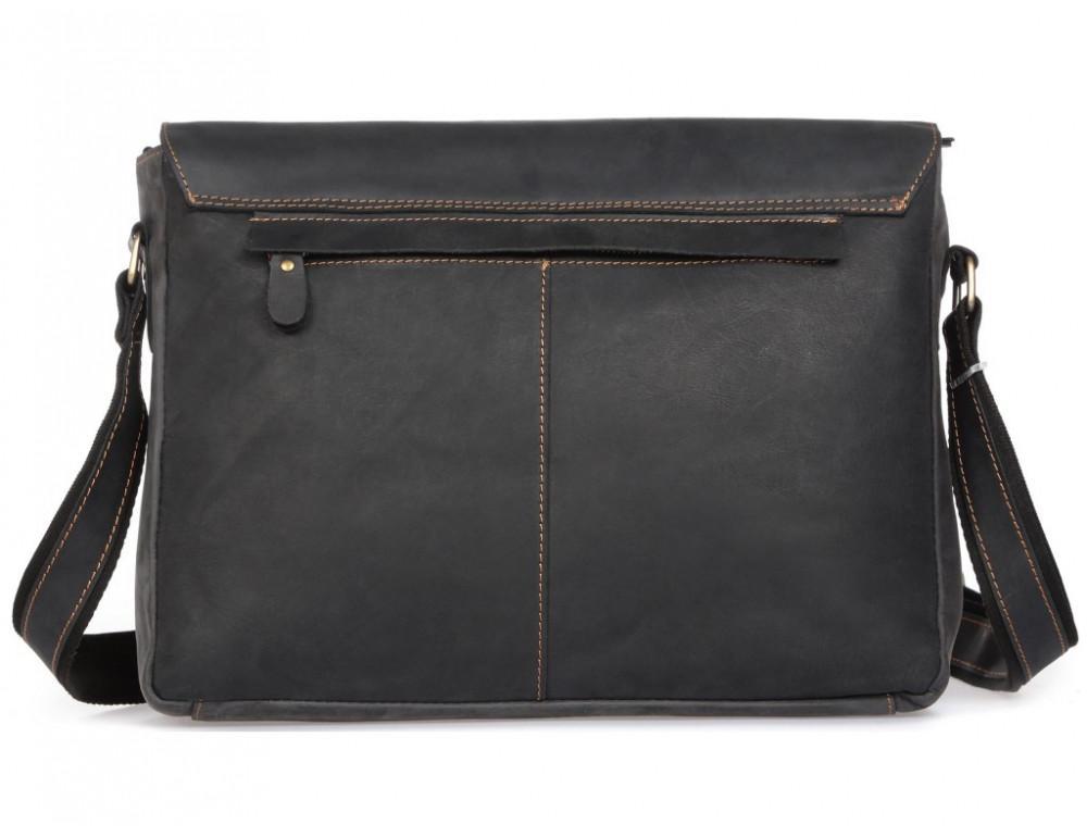 Винтажная сумка через плечо TIDING BAG 6002LA-2 Чёрная - Фото № 3
