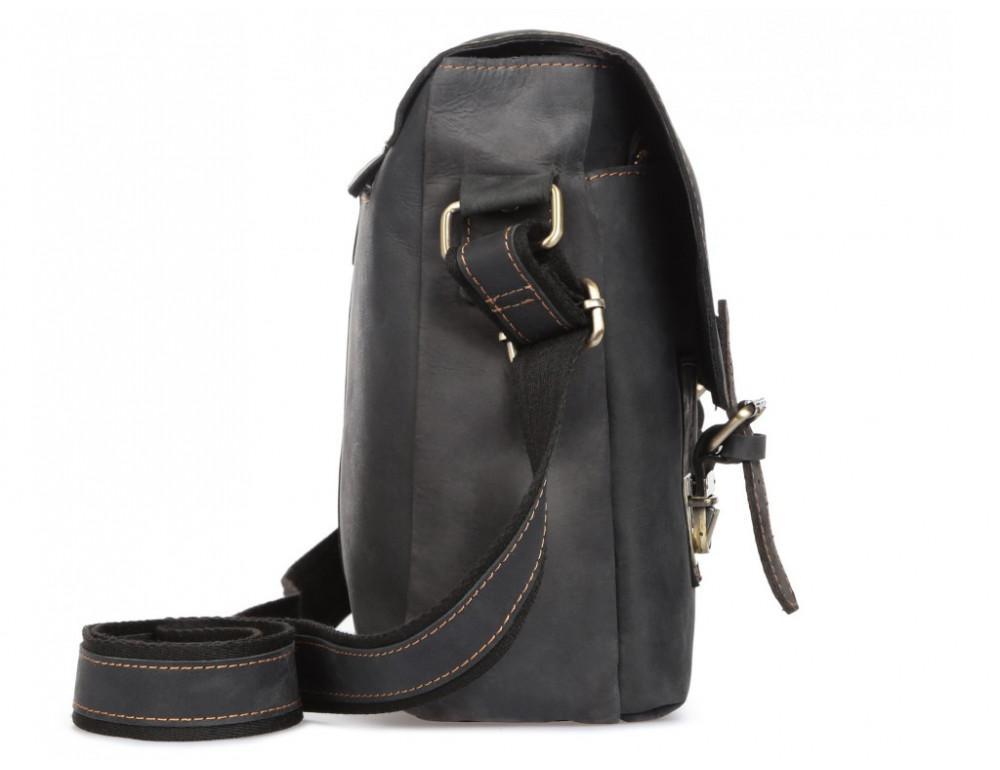 Винтажная сумка через плечо TIDING BAG 6002LA-2 Чёрная - Фото № 4