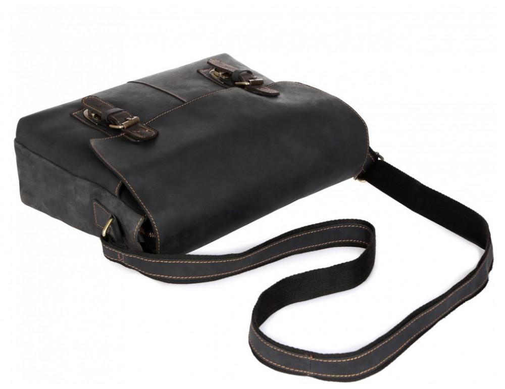 Винтажная сумка через плечо TIDING BAG 6002LA-2 Чёрная - Фото № 5