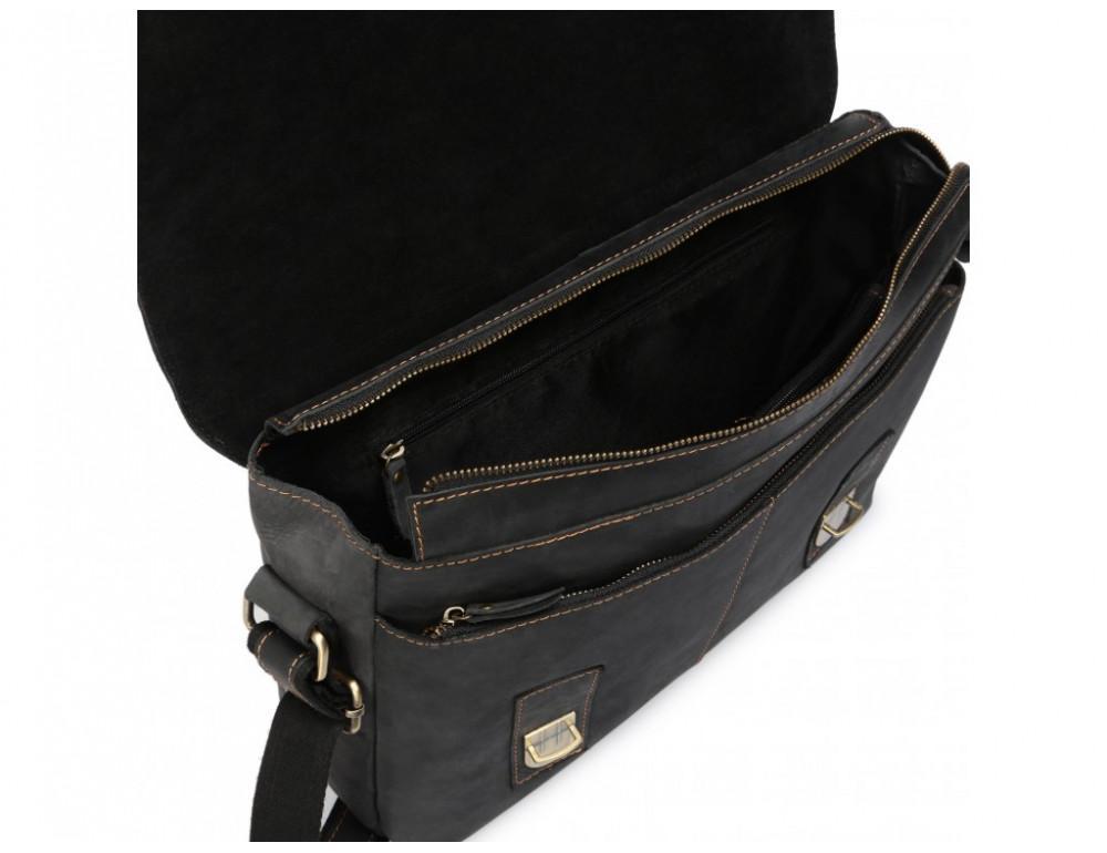 Винтажная сумка через плечо TIDING BAG 6002LA-2 Чёрная - Фото № 9