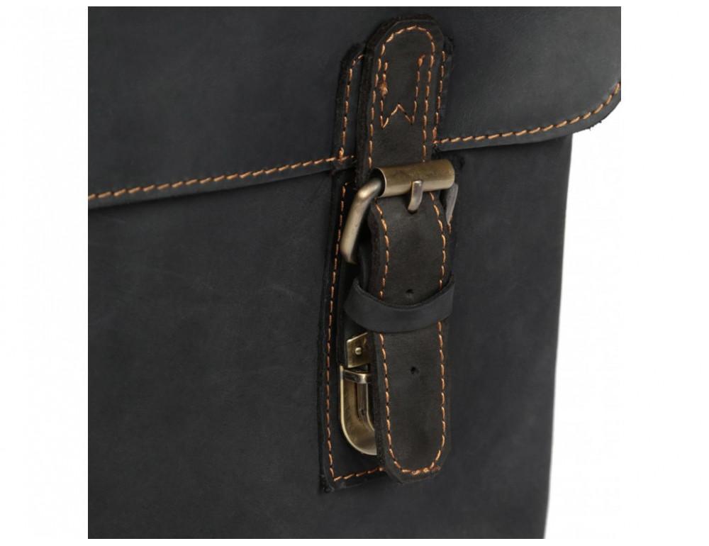 Винтажная сумка через плечо TIDING BAG 6002LA-2 Чёрная - Фото № 7