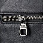 Чёрная кожаная сумка-мессенджер Tiding Bag 6026A - Фото № 108