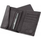 Чёрный кожаный портмоне на магнитах MD Leather Collection 604-a - Фото № 102