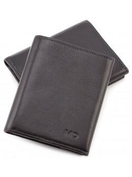 Чёрный кожаный портмоне на магнитах MD Leather Collection 604-a