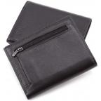 Чёрный кожаный портмоне на магнитах MD Leather Collection 604-a - Фото № 103