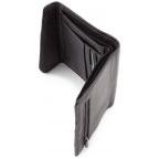 Чёрный кожаный портмоне на магнитах MD Leather Collection 604-a - Фото № 104