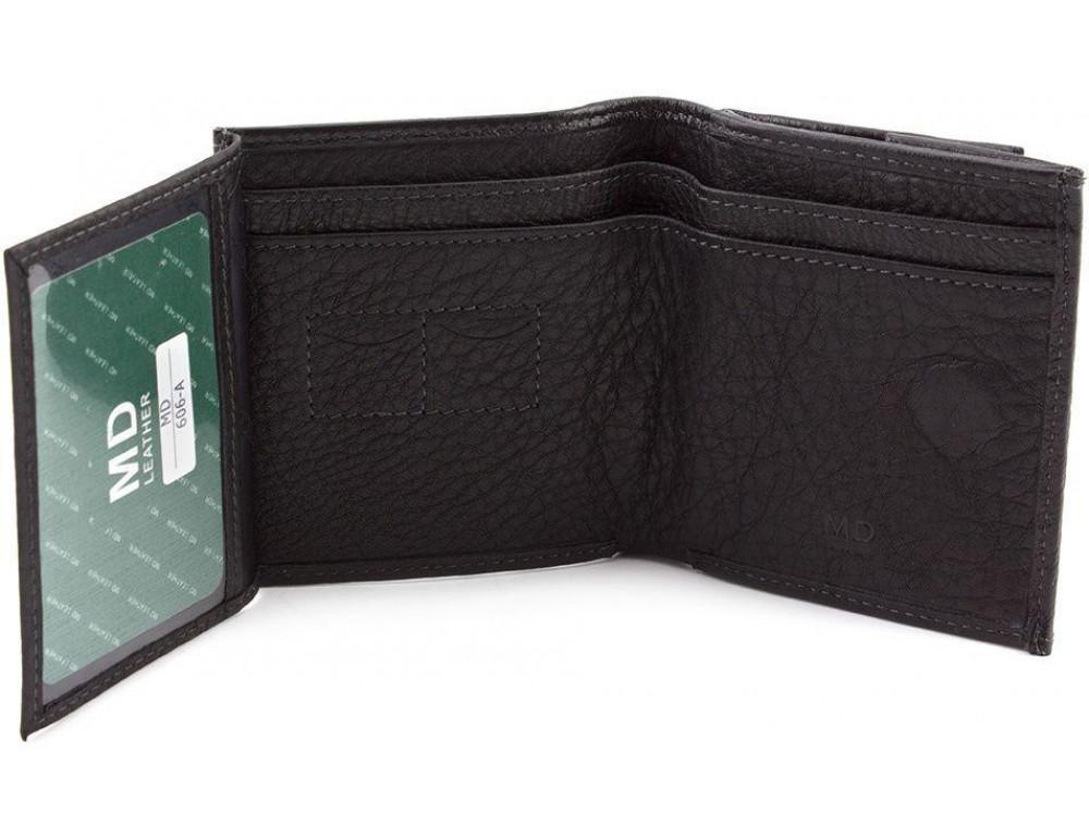 Маленький кожаный кошелёк на магнитной засчёлке MD Leather 606-a - Фото № 2