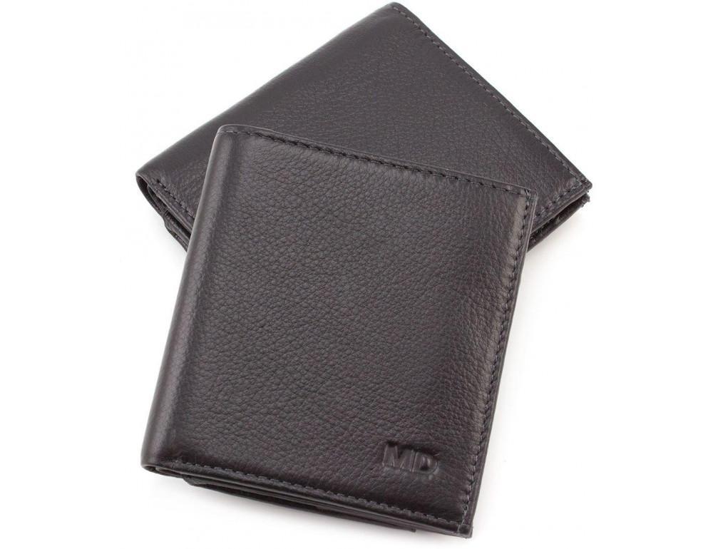 Маленький кожаный кошелёк на магнитной засчёлке MD Leather 606-a - Фото № 1