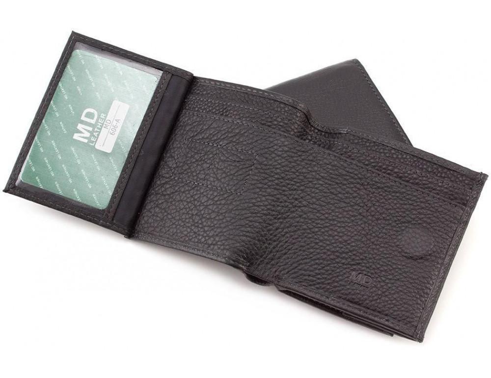 Маленький кожаный кошелёк на магнитной засчёлке MD Leather 606-a - Фото № 3