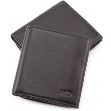 Маленький кожаный кошелёк на магнитной засчёлке MD Leather 606-a