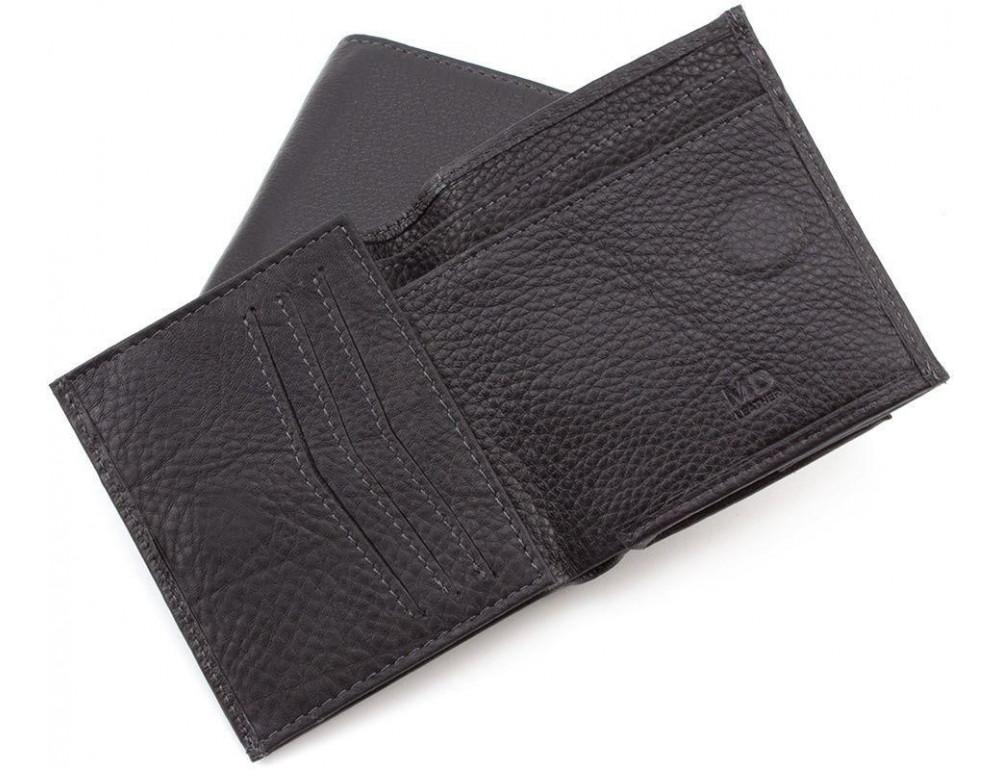 Маленький кожаный кошелёк на магнитной засчёлке MD Leather 606-a - Фото № 4