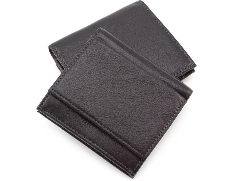 Маленький кожаный кошелёк на магнитной засчёлке MD Leather 606-a - Фото № 6