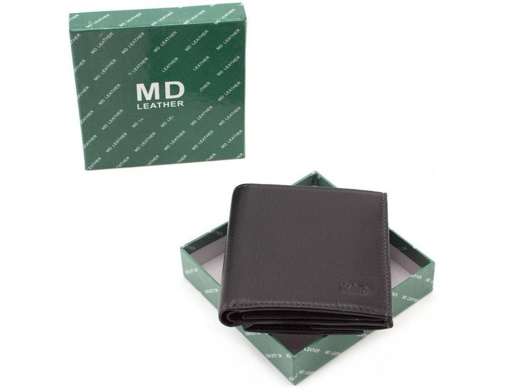 Маленький кожаный кошелёк на магнитной засчёлке MD Leather 606-a - Фото № 8