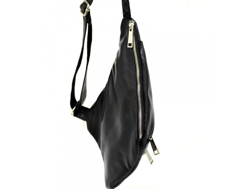 Чёрная сумка на плечо из кожи TARWA GA-6402-3md - Фото № 2