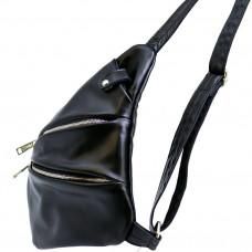 Чёрная сумка на плечо из кожи TARWA GA-6402-3md