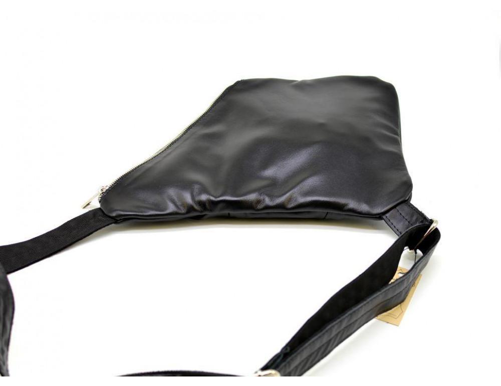 Чёрная сумка на плечо из кожи TARWA GA-6402-3md - Фото № 5