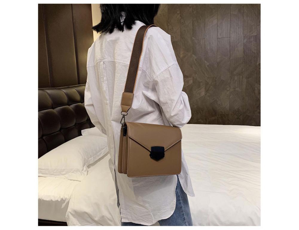 Тёмно-пудровая женская сумока из пу-кожи Ramiel 6905KH - Фото № 2