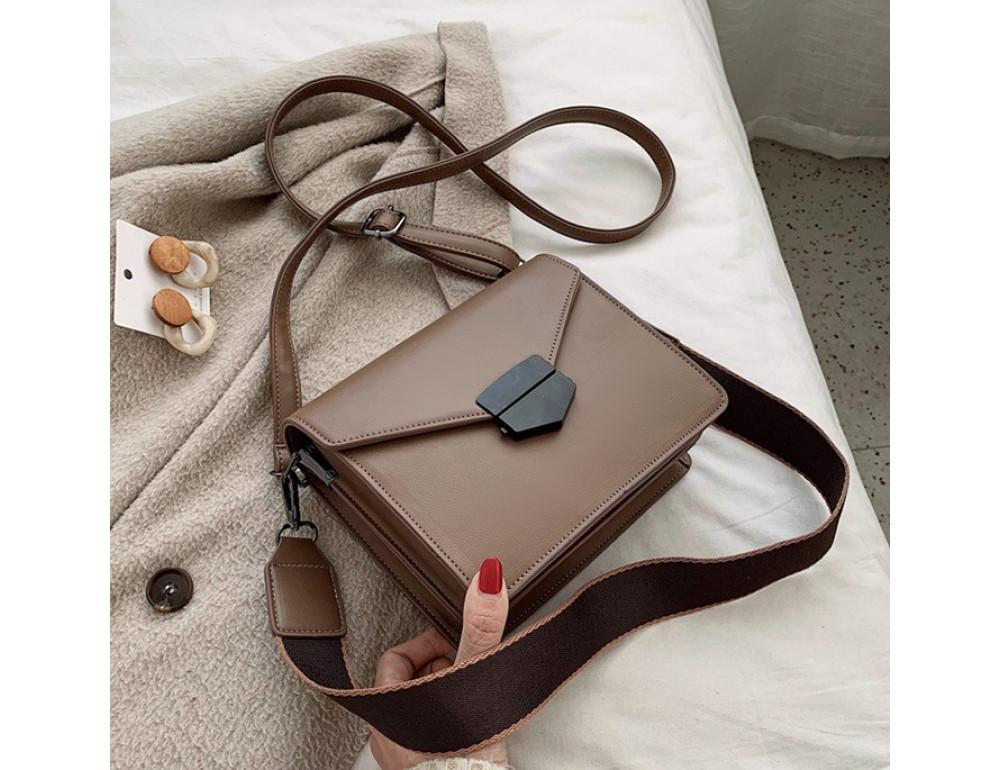 Тёмно-пудровая женская сумока из пу-кожи Ramiel 6905KH - Фото № 1