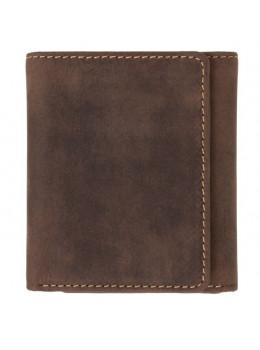 Тёмно-коричневый портмоне мужской Visconti 700 OIL TAN Apache