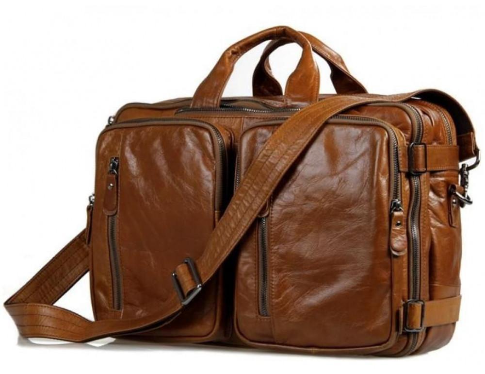 Мужская сумка - трансформер JASPER-MAINE 7014B коричневая - Фото № 1
