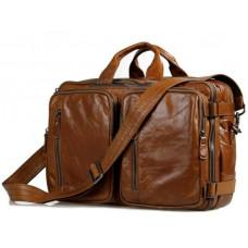 Мужская сумка - трансформер JASPER-MAINE 7014B коричневая