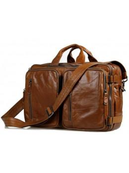 Чоловіча сумка - трансформер JASPER-MAINE 7014B коричнева