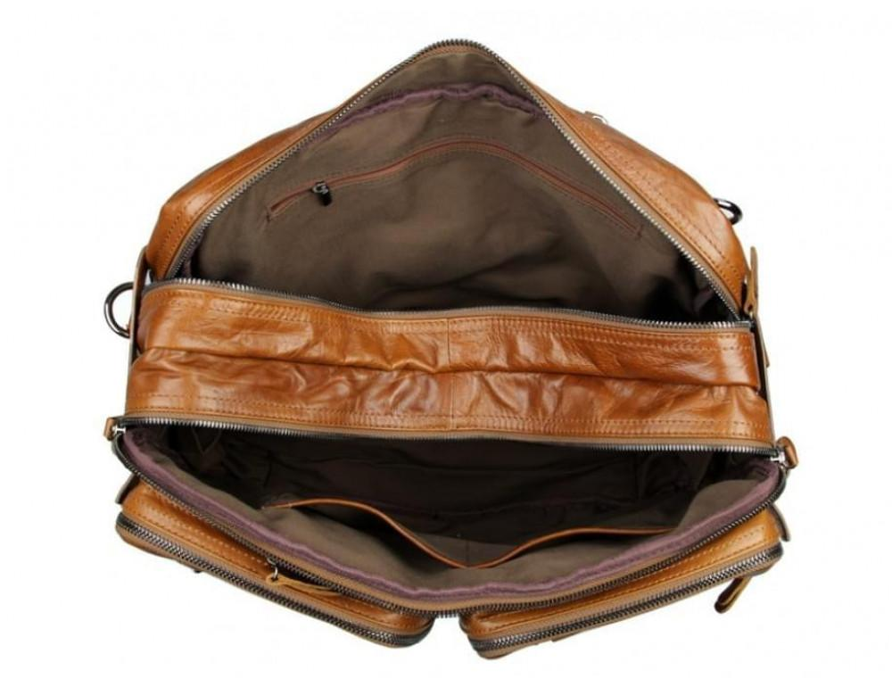 Мужская сумка - трансформер JASPER-MAINE 7014B коричневая - Фото № 2