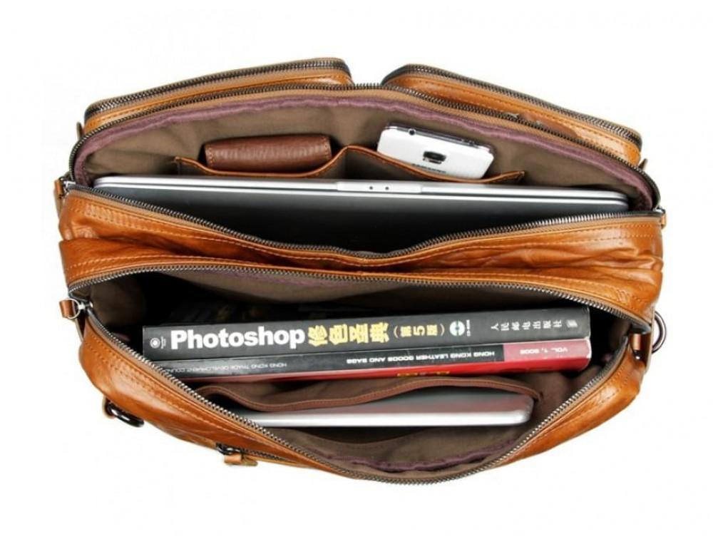 Мужская сумка - трансформер JASPER-MAINE 7014B коричневая - Фото № 3