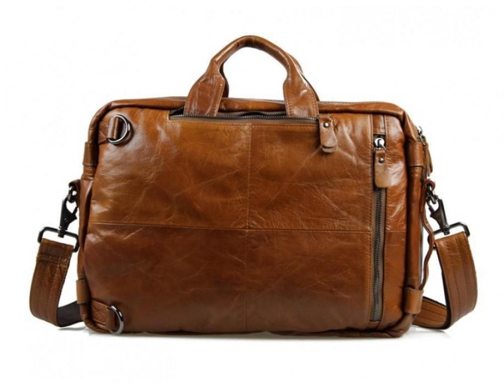 Мужская сумка - трансформер JASPER-MAINE 7014B коричневая - Фото № 6
