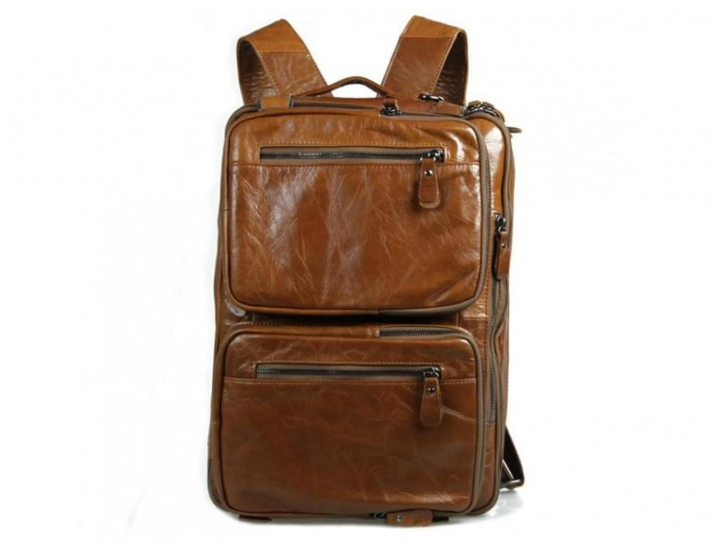Мужская сумка - трансформер JASPER-MAINE 7014B коричневая - Фото № 7
