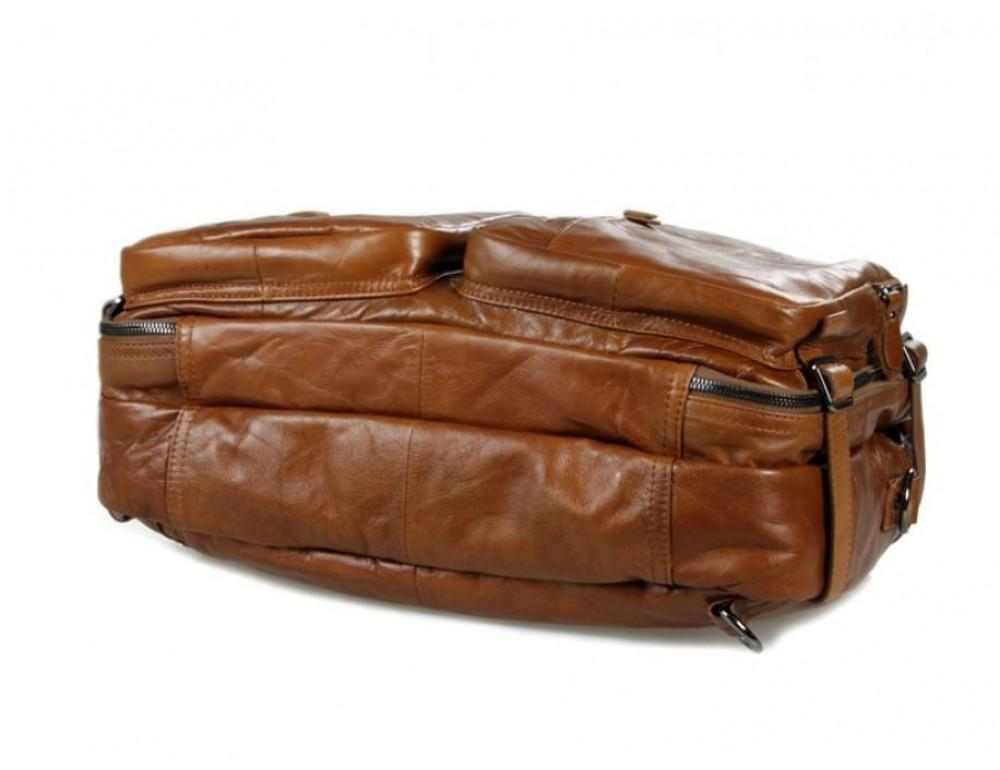 Мужская сумка - трансформер JASPER-MAINE 7014B коричневая - Фото № 8