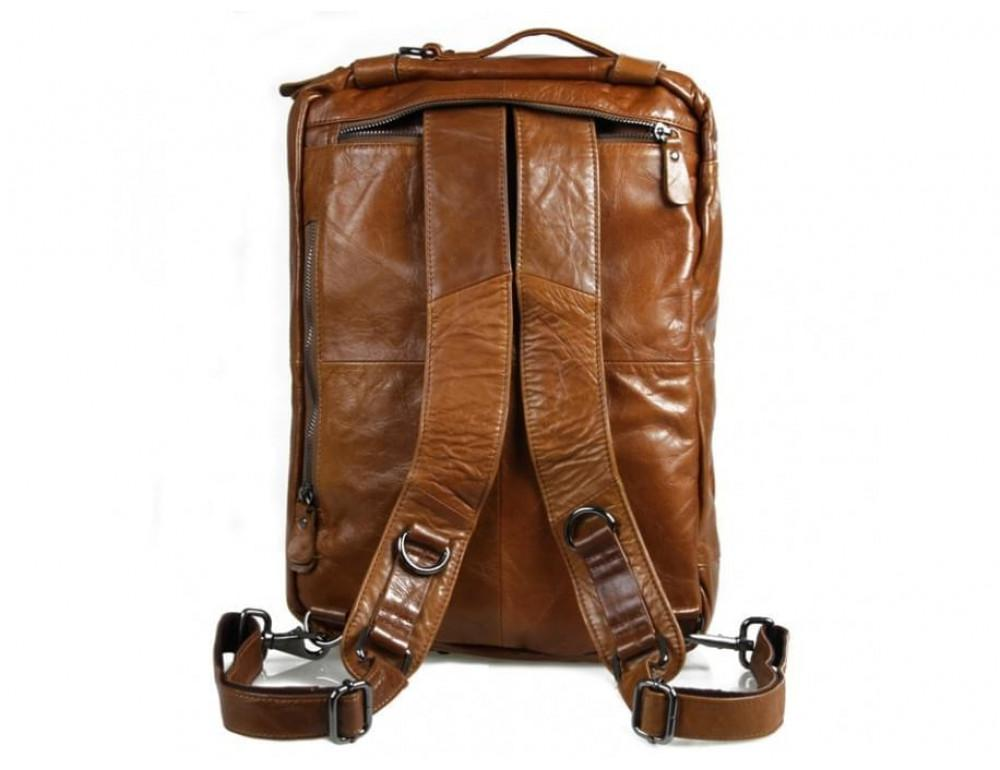 Мужская сумка - трансформер JASPER-MAINE 7014B коричневая - Фото № 9