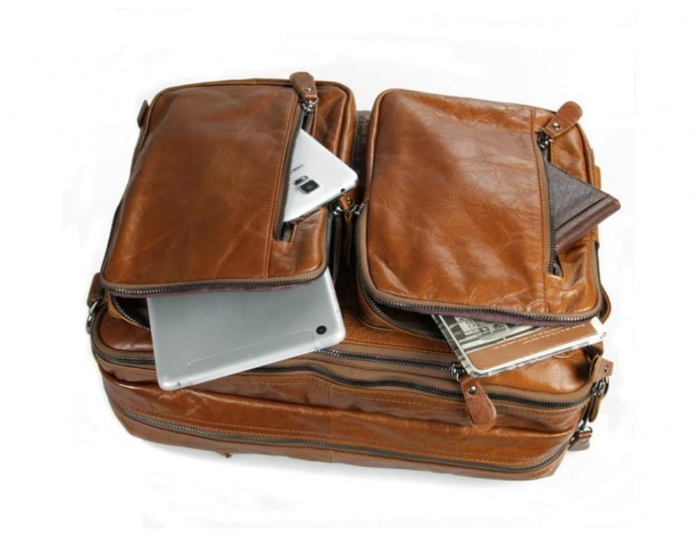 Мужская сумка - трансформер JASPER-MAINE 7014B коричневая - Фото № 10