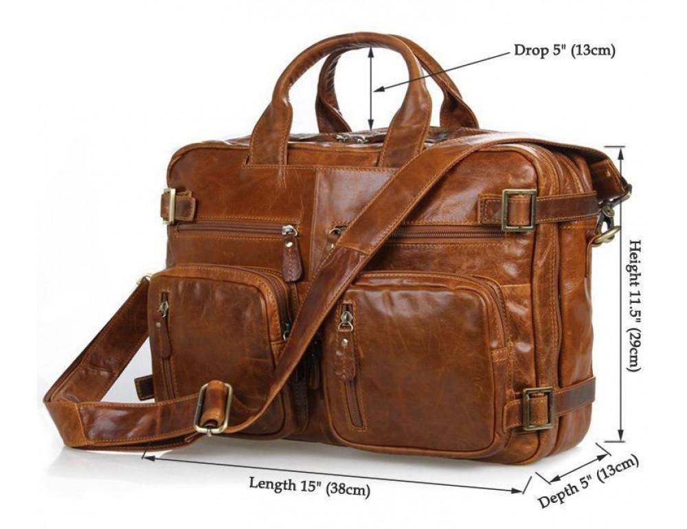Мужская сумка-рюкзак Jasper&Maine 7026B - Фото № 7