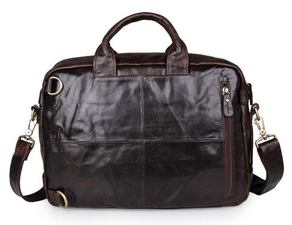 Коричневая мужская сумка трансформер John McDee 7026Q-1 - Фото № 4