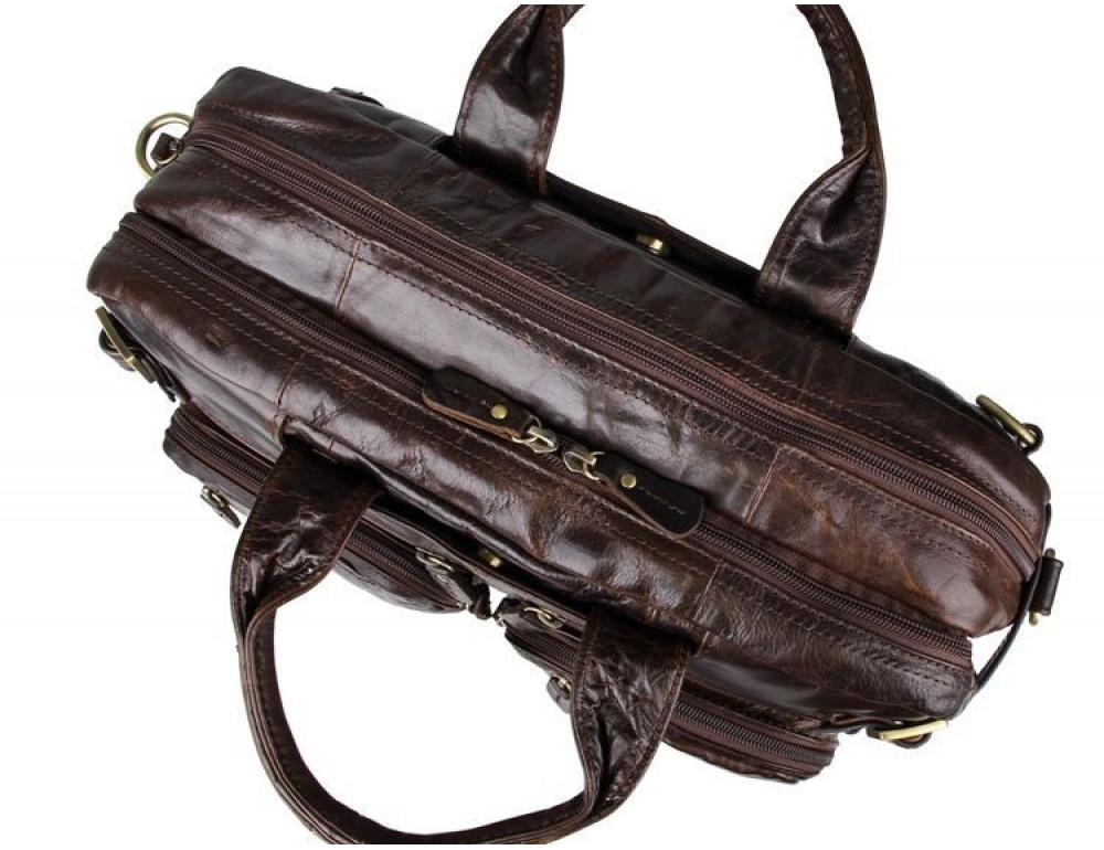 Коричневая мужская сумка трансформер John McDee 7026Q-1 - Фото № 10