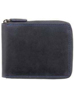 Тёмно-синий портмоне кожаный - маленький Visconti 702 OIL BLUE Bullet