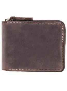 Коричневый портмоне кожаный - маленький Visconti 702 OIL BRN Bullet