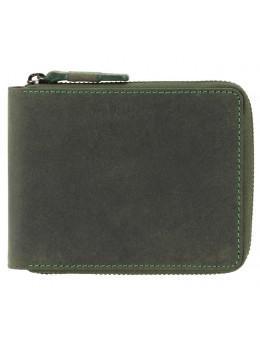 Зелёный портмоне кожаный - маленький Visconti 702 OIL GRN Bullet