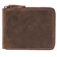 Тёмно-коричневый портмоне кожаный - маленький Visconti 702 OIL TAN Bullet