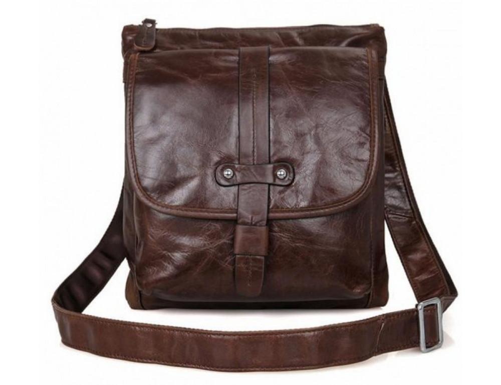 Мужская кожаная сумка через плечо  JASPER&MAINE 7045Q - Фото № 5