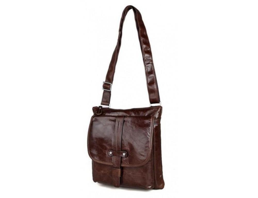 Мужская кожаная сумка через плечо  JASPER&MAINE 7045Q - Фото № 6