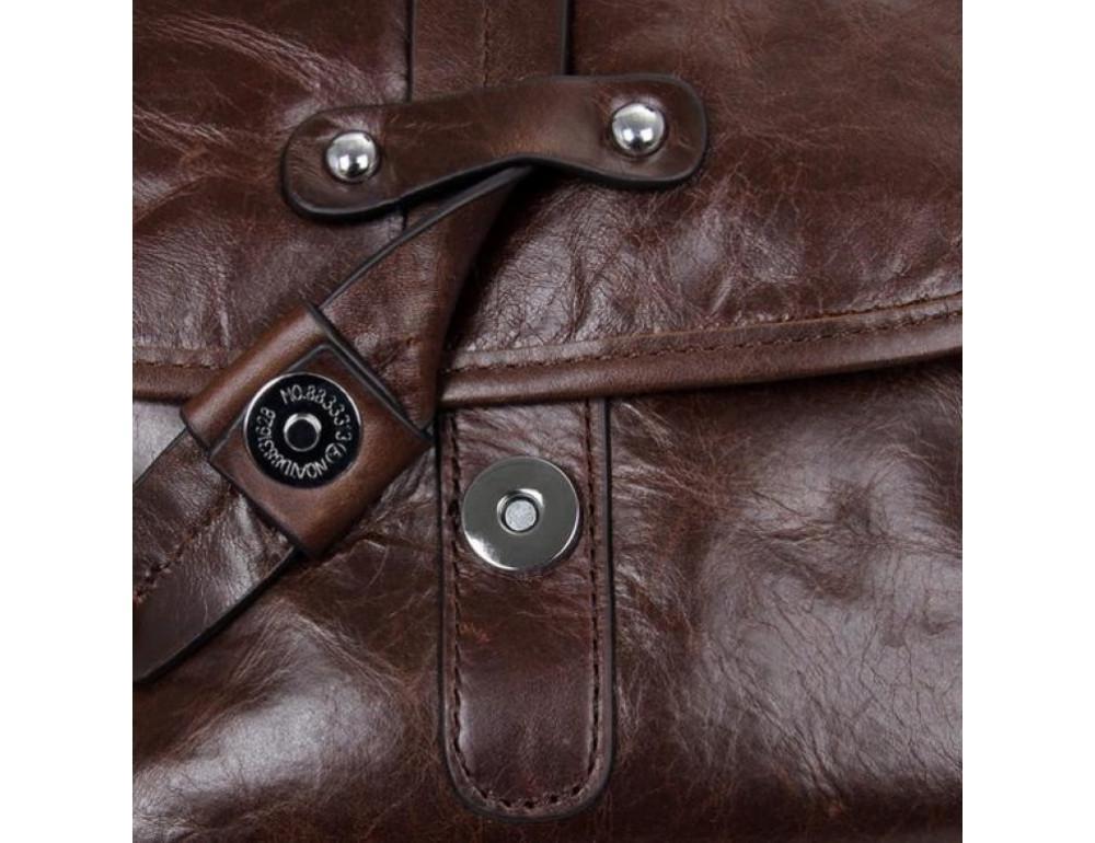 Мужская кожаная сумка через плечо  JASPER&MAINE 7045Q - Фото № 8