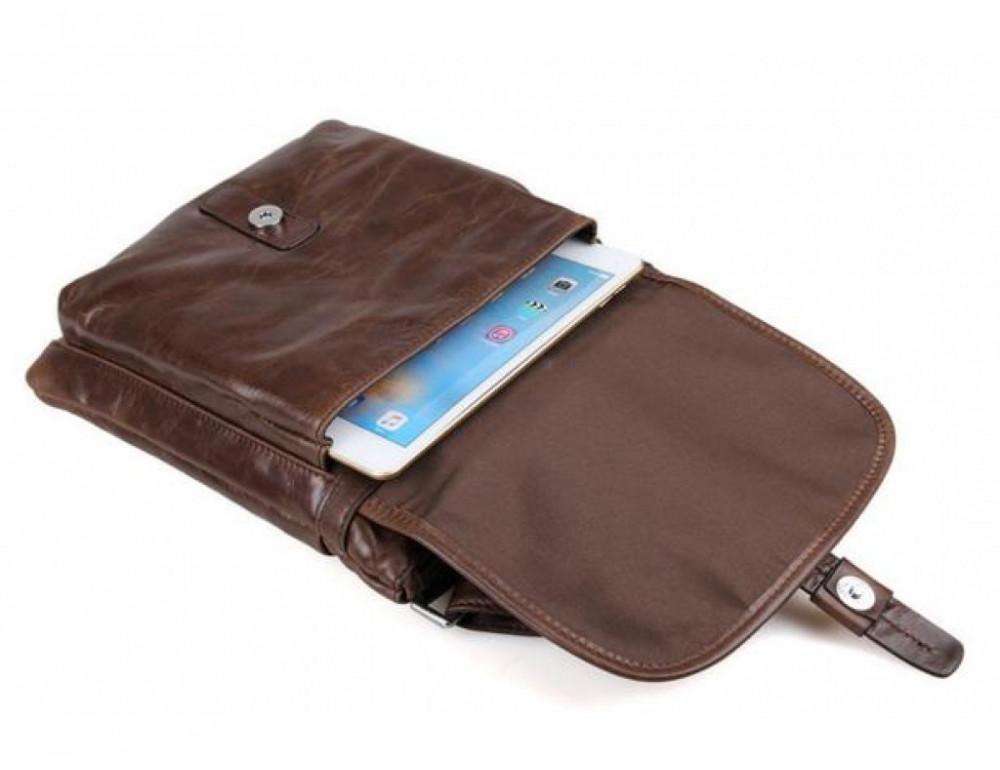 Мужская кожаная сумка через плечо  JASPER&MAINE 7045Q - Фото № 9