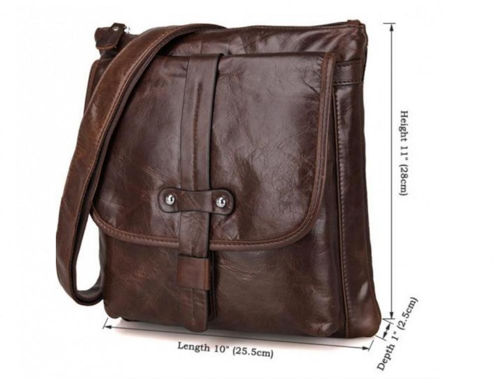 Мужская кожаная сумка через плечо  JASPER&MAINE 7045Q - Фото № 2