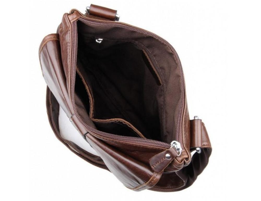 Мужская кожаная сумка через плечо  JASPER&MAINE 7045Q - Фото № 3