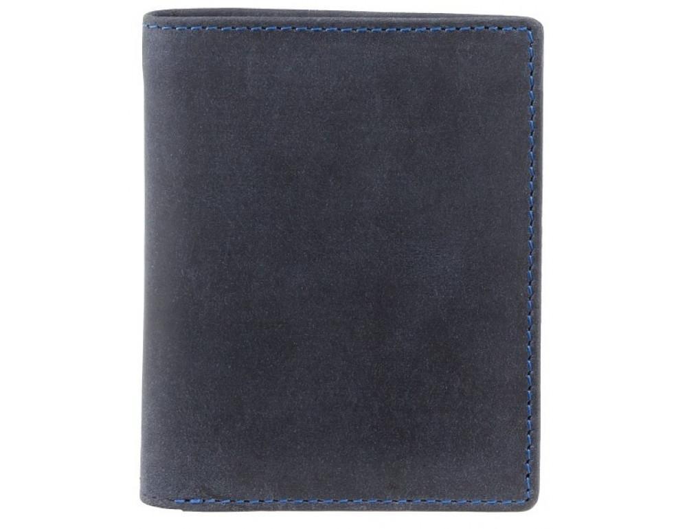 Синий кожаный кошелек мужской Visconti 705 OIL BLUE  Arrow - Фото № 1