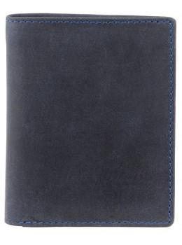 Синий кожаный кошелек мужской Visconti 705 OIL BLUE Arrow